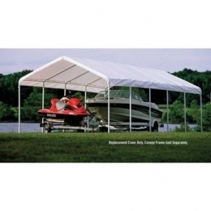 12 X 30 White Shelter Logic Canopy Replacement Cover Fits ...