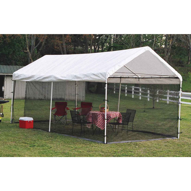 Shelter Logic 10x20 Canopy Screen Kit  sc 1 st  U-Sav.com & Shelter Logic 25777 Canopy Screen Kit 10x20 1-3/8 or 2 inch frame ...