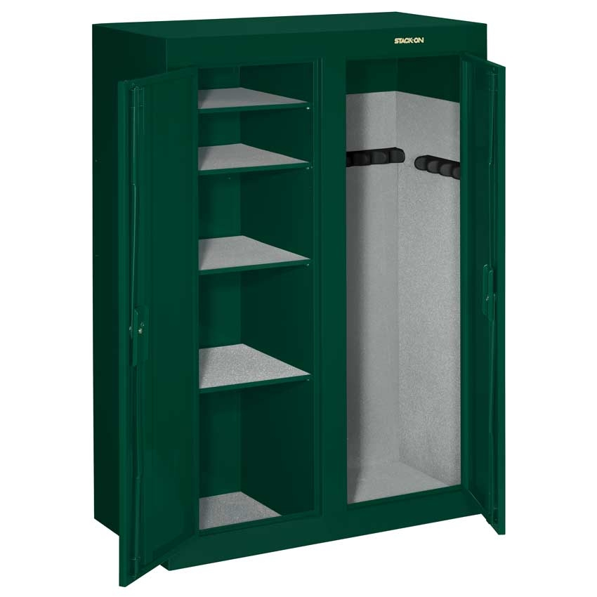 Stack on steel security 16 31 gun double door locking cabinet for 10 gun double door steel security cabinet