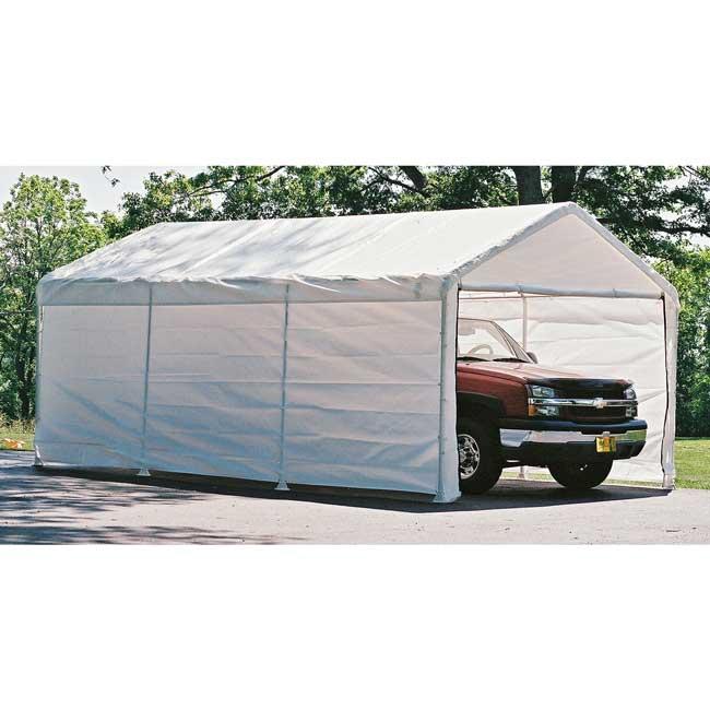 Shelter Logic 18x20 Canopy Enclosure Kit  sc 1 st  U-Sav.com & Shelter Logic 26775 Canopy Enclosure Kit 18x20 - Garage Storage Direct