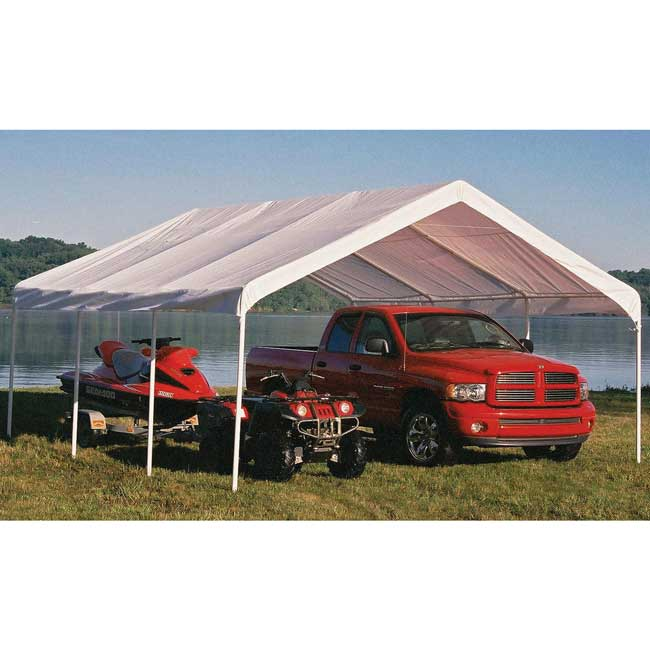 Shelter Logic 18x20 Super Max Canopy  sc 1 st  U-Sav.com & Shelter Logic 26773 Super Max Canopy 18x20 - Garage Storage Direct