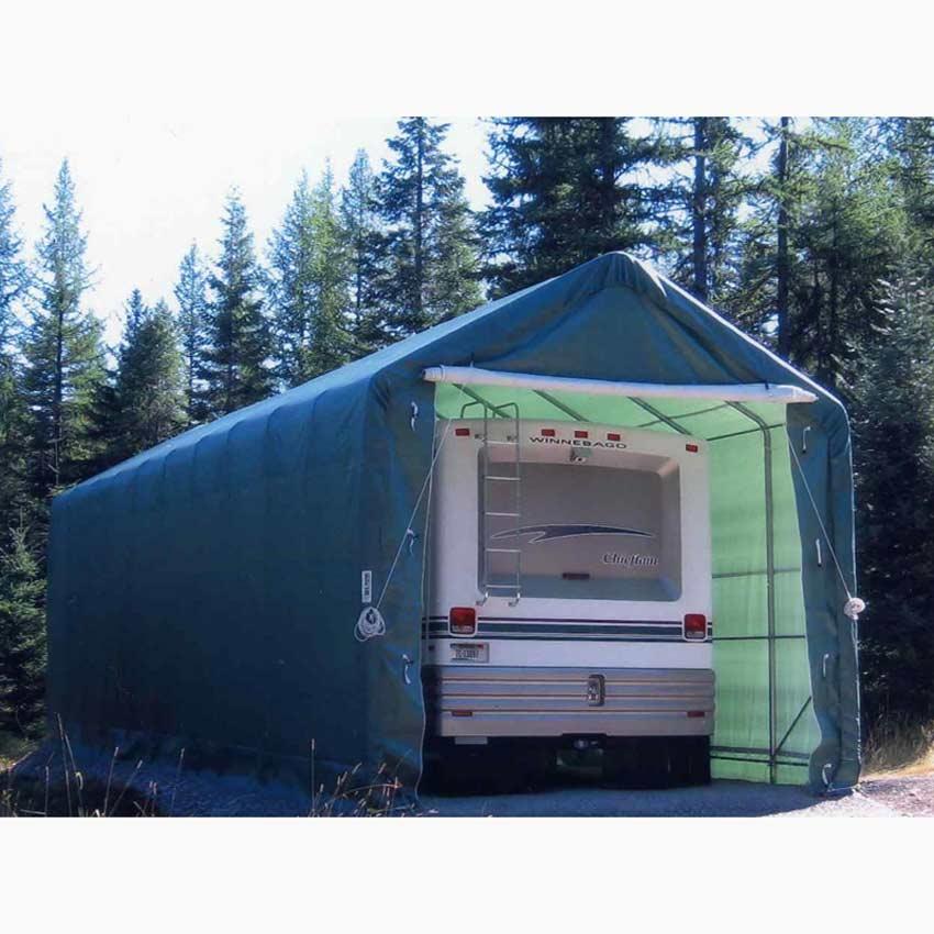 Portable Rv Awning Covers : Motorhome garage storage with elegant creativity fakrub