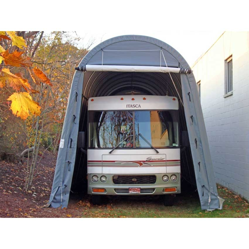 Rv style portable building rv canopy rv storage Camper storage building