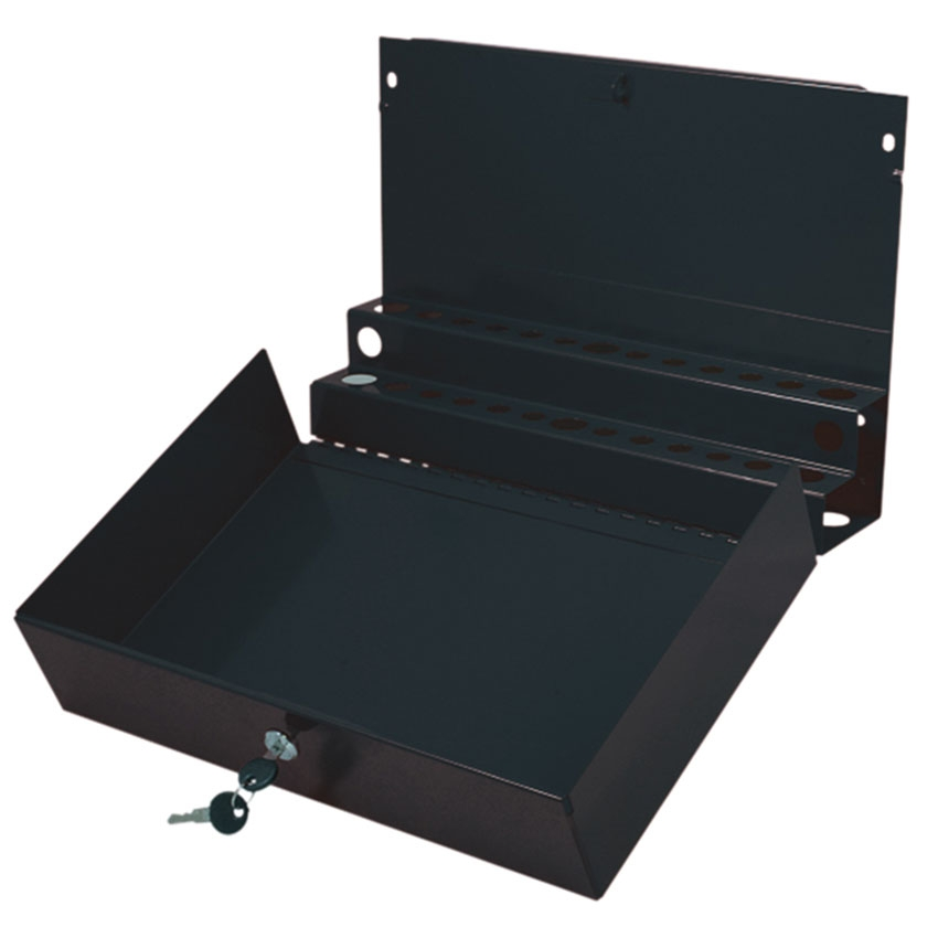 sunex service cart with lock top and drawer red 80013a. Black Bedroom Furniture Sets. Home Design Ideas
