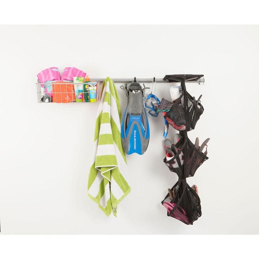 monkey bar garage shoe storage rack