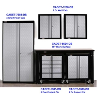 Gladiator Cadet Assembled 6 PC Garage Storage Set