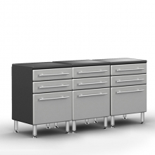 Ulti-MATE Pro 3 Drawer Base Cabinet Package