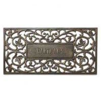 Personalized Filligris Aluminum Rectangle Mat-Whitehall