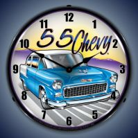 USC 1955 Chevy Lighted Clock GM712176