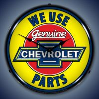 USC Chevrolet Genuine Parts Lighted Clock