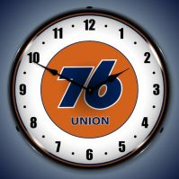 USC Union 76 Gas Station Lighted Clock