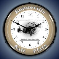 Bonneville Race Trac Lighted Clock