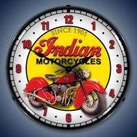 USC Indian Motorcycles Lighted Clock