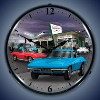 USC 1966 Sinclair Vette Lighted Clock