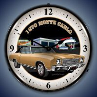 USC 1970 Monte Carlo Lighted Clock