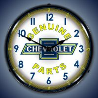 USC Chevy Parts Vintage Lighted Clock