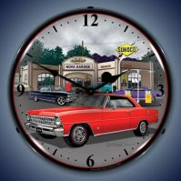 USC 1967 Red Nova Lighted Clock