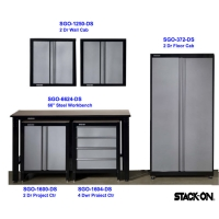 Stack-On SGO Assembled 6 pc. Garage Storage Set