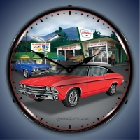 USC 1969 Chevelle Lighted Clock