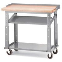 Akro-Mils Heavy Duty Mobile Work Table w/Premium Oak Top