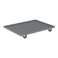Akro-Mils 18 x 24 in. Solid Deck Steel Dolly - Lips Up