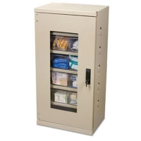 Akro-Mils Quick-View Door Secure Mini Cabinet, w/12 Assorted Drawers