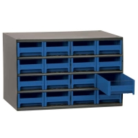 Akro-Mils Steel Storage Cabinet - 16 Drawers