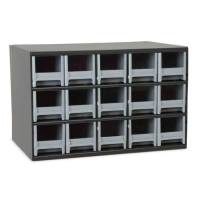 Akro-Mils Steel Storage Cabinet - 15 Drawers