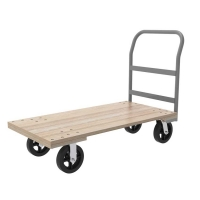 Akro-Mils Series 5-Wood 24 x 48 Crossbar Handle Platform Truck