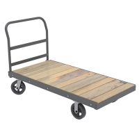 Akro-Mils Super-Heavy-Duty 30 x 48 Platform Trucks w/Wood Deck