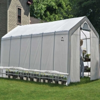 Shelter Logic Heavy Duty Walk-Thru Greenhouse 12 x 24 x 8 ft