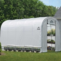 ShelterLogic Heavy Duty Walk-Thru Greenhouse-Roundtop 12 x 20 x 8 ft