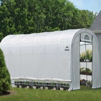 ShelterLogic Heavy Duty Walk-Thru Greenhouse-Roundtop 12 x 24 x 8