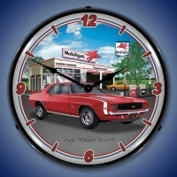 USC 1969 RS SS Camaro Mobil Lighted Clock