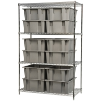 Akro-Mils Stack & Nest Container Shelving Set