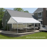 Shelter Logic 18x20 White Canopy Replacement Cover for 2 in. Frame