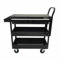 Excel 2 Tray 1 Drawer Rolling Metal Tool Cart