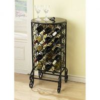 Holly & Martin Monterey Glass Top Wine Table
