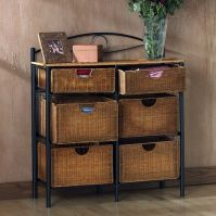Holly & Martin Lillian Iron/Wicker Storage Chest