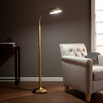 *AVAIL 5/11 SEI OttLite Alton Task Floor Lamp - Honey Brass