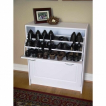 4D Concepts Deluxe Double Shoe Cabinet