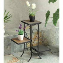 *AVAIL 2/28/17 4D Concepts 3 Tier Plant Stand with Slate Top