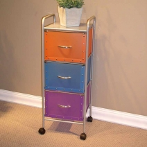 4D Concepts 3 Drawer Chest - Multi Colored