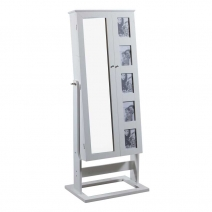 Powell Cheval Photo Armoire - White