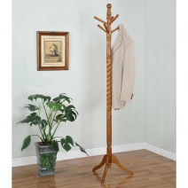 *AVAIL 5/1 Powell Oak Twist Coat Rack