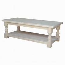 IC Unfinished Tuscan Coffee Table