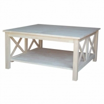 IC Unfinished Hampton Square Coffee Table