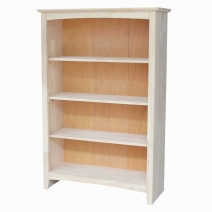 IC Unfinished 48 in. Shaker bookcase