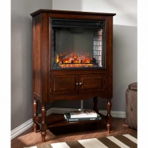 *CLOSEOUT SEI Providence Fireplace Tower - Mahogany