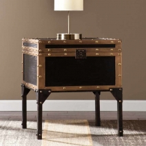 SEI Drifton Travel Trunk End Table